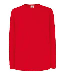 Детская футболка с длинным рукавом Красный 104 см