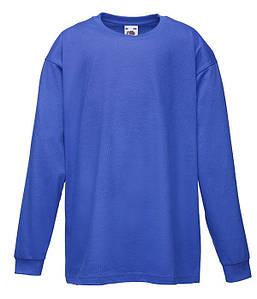 Детская футболка с длинным рукавом Ярко-Синий 104 см