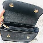 Стильная женская сумка с бантиком черная  (163), фото 3