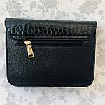 Стильная женская сумка с бантиком черная  (163), фото 5