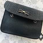 Стильная женская сумка с бантиком черная  (163), фото 6