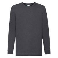 Детская футболка с длинным рукавом 116 см темно-серый меланж