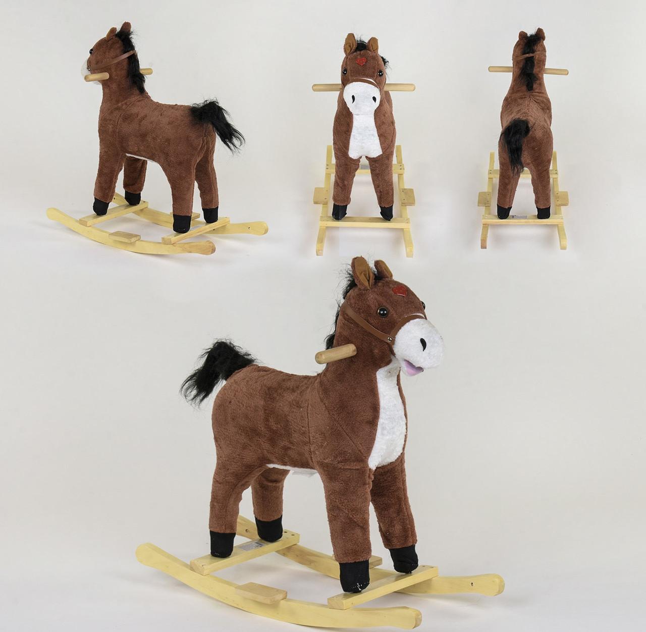 Качалка-лошадка В 04662 коричневый 80437