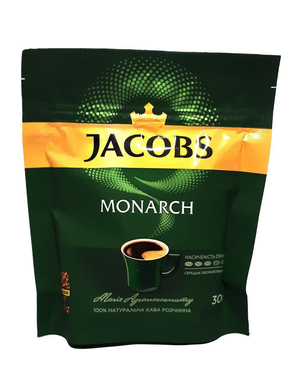 Кофе растворимый сублимированный Jacobs Monarch 30 г в мягкой упаковке