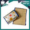 Пляжный коврик - сумка из бамбука 150*170 см | пляжная подстилка | коврик для пикника | коврик для моря