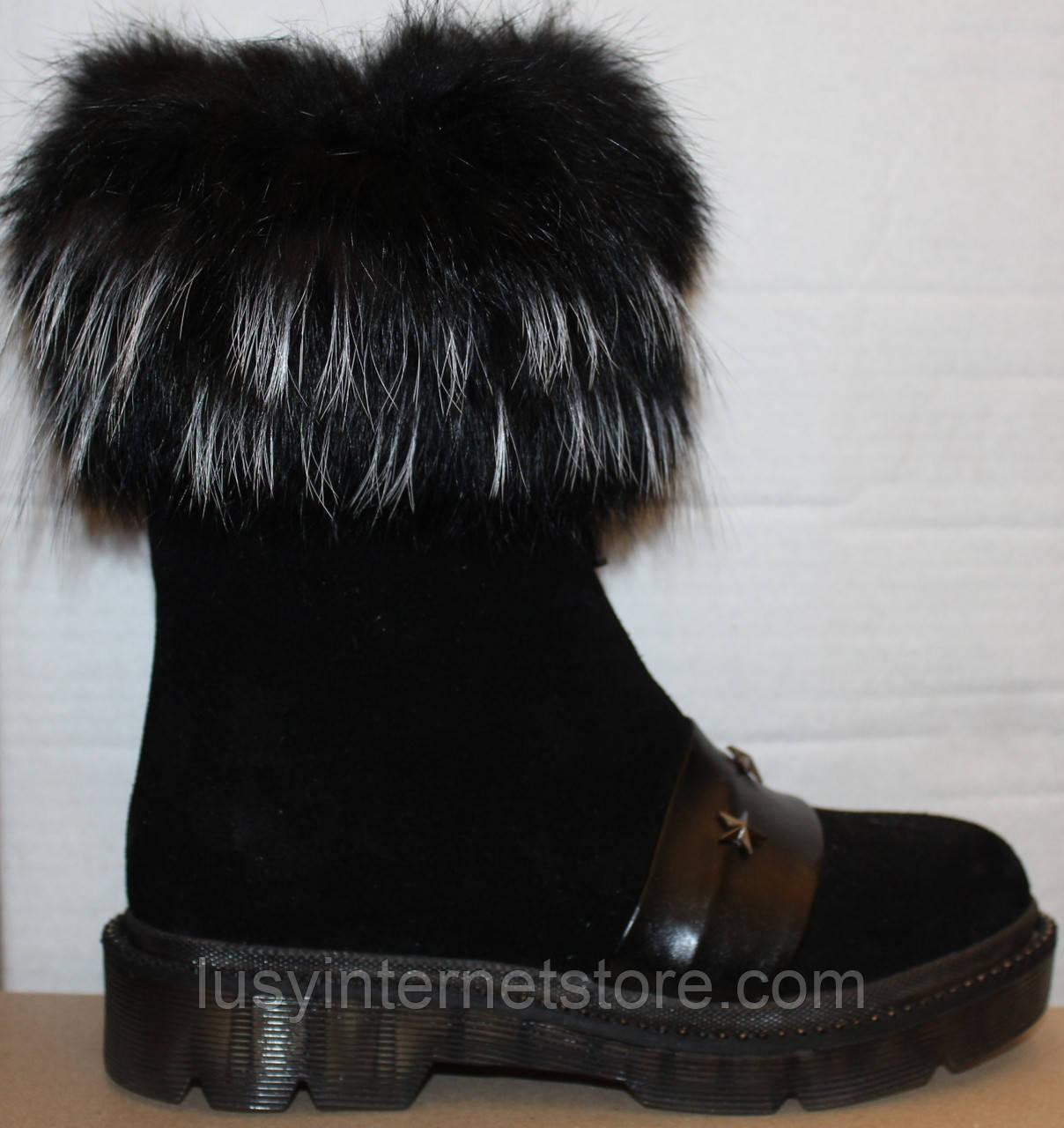 Ботинки молодежные женские с натуральным мехом от производителя модель УН504