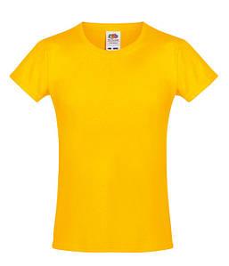 Футболка для девочек Солнечно Желтый 104 см