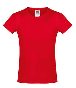 Футболка для девочек Красный 104 см