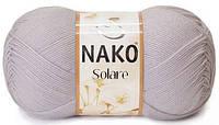 Пряжа Nako Solare 318 серовато-розовый (нитки для вязания Нако Соларе) 100% египетский хлопок