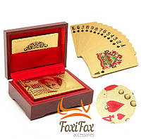 Подарочные игральные карты в футляре Gold