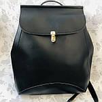 Рюкзак женский трансформер черный кожзам (8808), фото 3