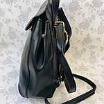 Рюкзак женский трансформер черный кожзам (8808), фото 5
