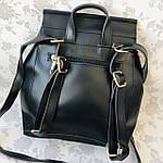 Рюкзак женский трансформер черный кожзам (8808), фото 2