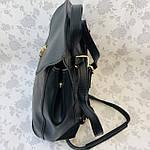 Рюкзак женский трансформер черный кожзам (8808), фото 8