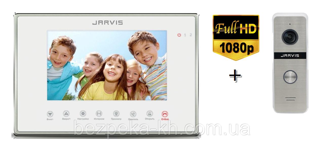 Комплект видеодомофона  Full HD Jarvis JS-7MW FHD + JS-02S FHD