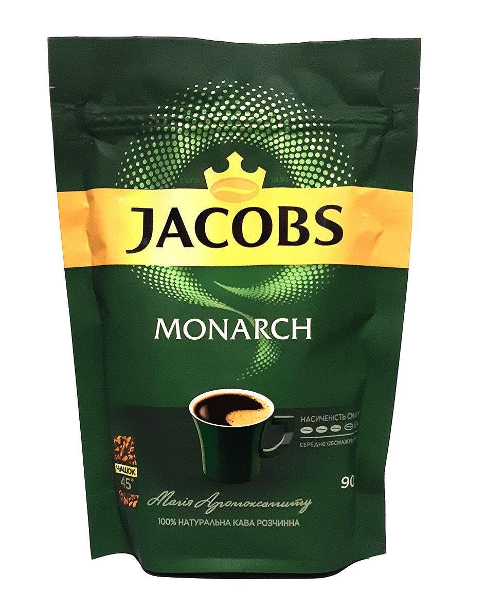 Кофе растворимый сублимированный Jacobs Monarch 90 г в мягкой упаковке