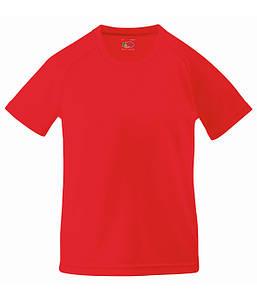 Детская спортивная футболка Красный 104 см