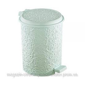 Ведро для мусора Ажур с педалью мятный Ivy Elif plastik 325-4LF
