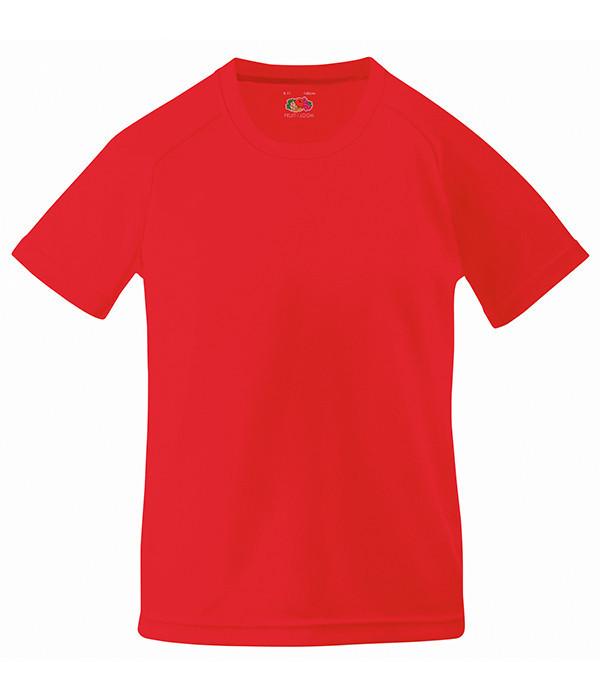 Детская спортивная футболка Красный 128 см