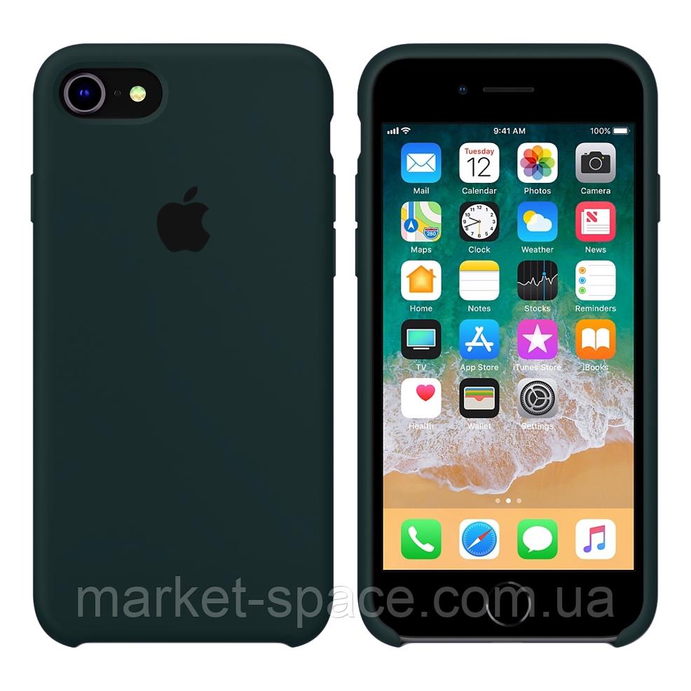 """Чехол силиконовый для iPhone 7/8. Apple Silicone Case, цвет """"Зелëный лес"""""""