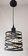 Люстра-светильник подвесной 12333светло-коричневый цилиндр вчерной решетке