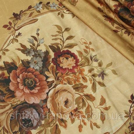 Декор карелиан квіти фон гірчичний