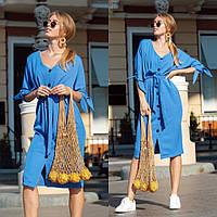 Платье на пуговицах / креп костюмный / Украина 13-205, фото 1