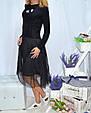 Платье женское стильное с фатином размер универсальный 42-46 купить оптом со склада 7км Одесса, фото 2