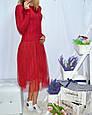 Платье женское стильное с фатином размер универсальный 42-46 купить оптом со склада 7км Одесса, фото 3