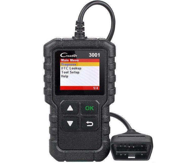 Диагностический автомобильный сканер Launch Creader 3001, Обновленная модель