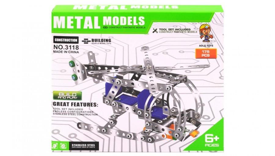 Детский металлический конструктор вертолёт