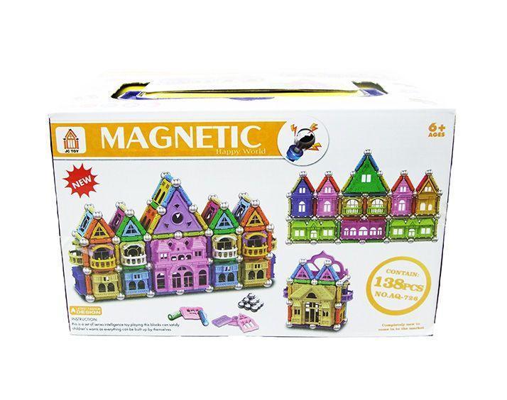 Конструктор магнитный Magic Magnetic Замок 138 деталей