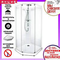 Душевая кабина Ido Comfort Showerama 10-5 100x100 см прозрачное стекло профиль белый