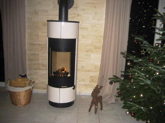 Теплоемкая печь камин Thorma Atika Standart белая (круглая кафельная печка)