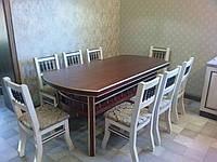 Стол со стульями из массива ясеня