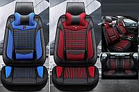 Модельные чехлы B&R на передние и задние сиденья автомобиля Skoda Fabia + подушка