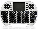 Бездротова міні-клавіатура W-Shark з тачпадом White UKR, фото 2