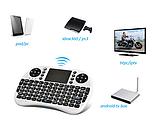 Бездротова міні-клавіатура W-Shark з тачпадом White UKR, фото 3