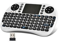 Беспроводная мини-клавиатура W-Shark с тачпадом White RUS