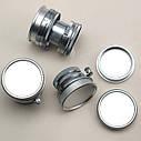 Защитная крышка для корпуса фотокамеры и объектива с резьбой M 42 (металлическая - серебристая)., фото 2
