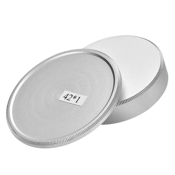 Защитная крышка для корпуса фотокамеры и объектива с резьбой M 42 (металлическая - серебристая).