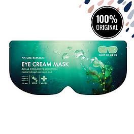 Гидрогелевая маска для кожи вокруг глаз NATURE REPUBLIC Aqua Collagen Solution Marine Hydrogel Eye Cream Mask