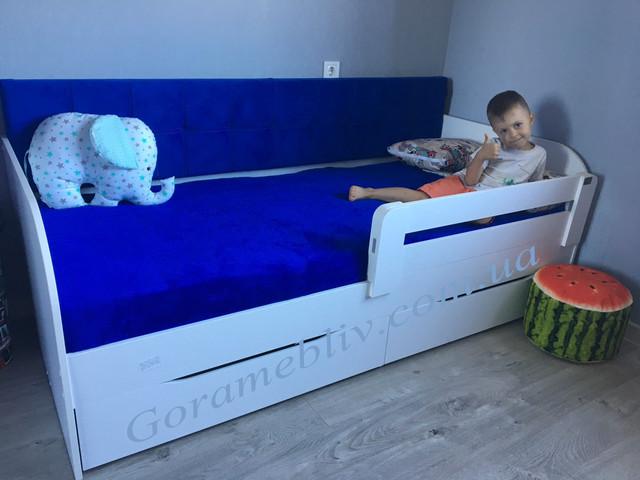 """На фото: кровать детская с бортиком """"Л-7"""""""