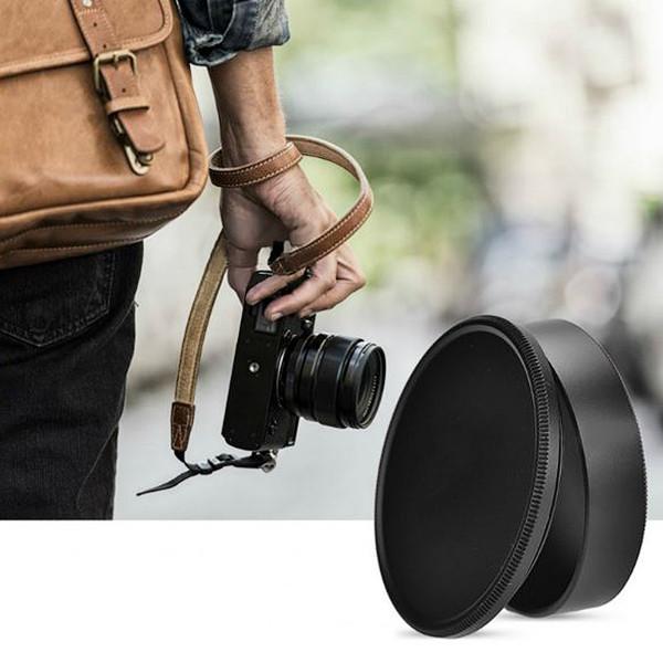 Защитная крышка для корпуса фотокамеры и объектива с резьбой M 42 (металлическая - цвет чёрный).