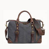 Мужской винтажный брезентовый портфель S.c.cotton, фото 1