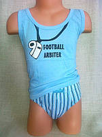 Комплект набор хлопок мальчик (трусики+маечка) футболист Natural Cluib Польша