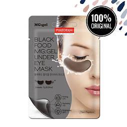 Гидрогелевые патчи для глаз PUREDERM Black Food MG:Gel Under Eye Mask