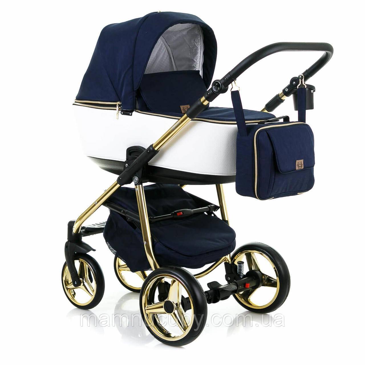 Универсальная коляска 2 в 1 Adamex Reggio Limited Chrom Y809