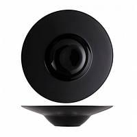 Delux Тарелка для пасти черная 400мл d30,5 см  ALT Porcelain