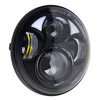 Фара головного світла мото LED 5,75 дюймів, денні ходові вогні, габарит, 9 - 32, кругла